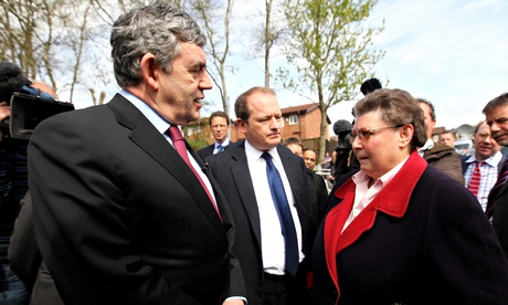 Gordon Brown Takes The Labour Campaign To Oldham
