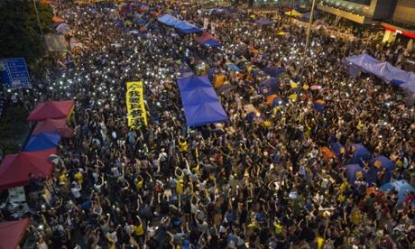 Umbrella protest in Hong Kong