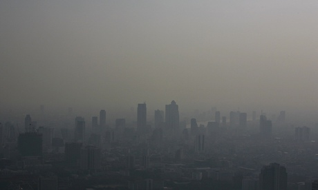 Bangkok's skyline blanketed in a haze