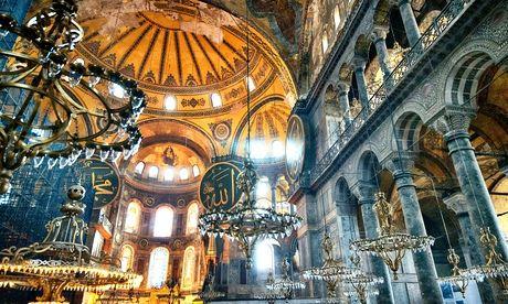 hagia sofia inside in istanbul