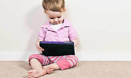 Toddler with iPad Mini
