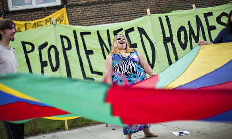 Housing protest in east London: groups opposed to the pro-business consensus must come together unde