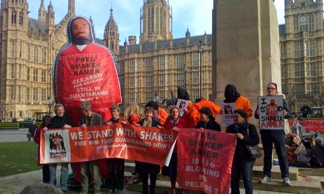 Shaker Aamer protest