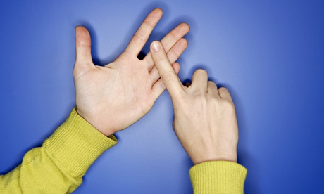 If schools taught sign language, deaf people would be less isolated. Photograph: Getty Images/Altren
