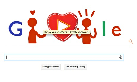 Valentines Day Celebrated By Google Doodle Technology The Guardian