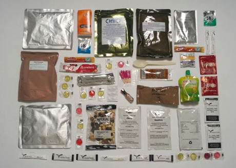 British Army ration pack.