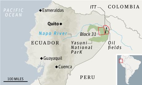 Equador oil map