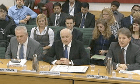Mike Driver (L), Iain Duncan Smith and Robert Devereux (R)