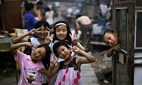 MDG  : A group of girls play in Beijing