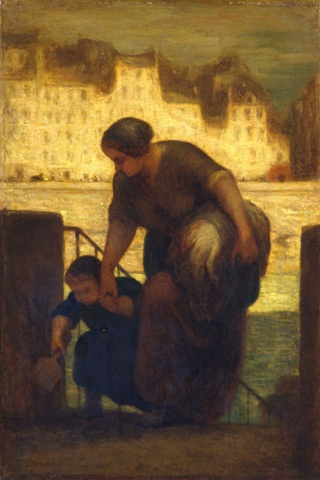 Honore Daumier The Laundress