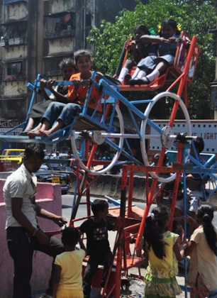 Children at play in Dharavi