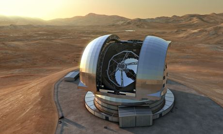 An artist's impression of the European Extremely Large Telescope (E-ELT).