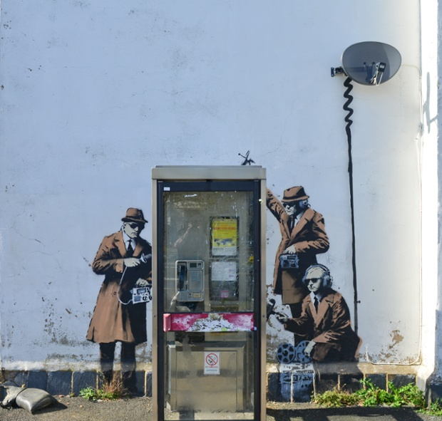 There is yet to be any official confirmation that Banksy is responsible for the work, but it has all the hallmarks of the famously secretive street artist.