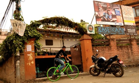 Base Camp cycle cafe in Kathmandu