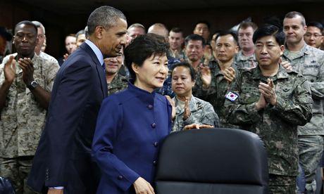Barack Obama and South Korean president Park Geun-hye