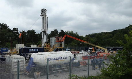 A view of the drill site operated by Cuadrilla Resources Ltd on 17 August, 2013 in Balcombe, West Sussex.
