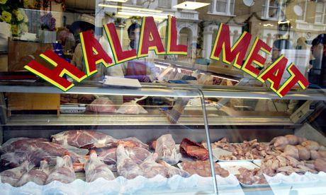 Halal meat sign