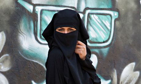 Woman wearing a niqab