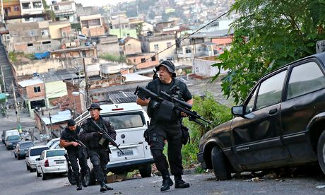 'In Rio de Janeiro, the number of deaths in conflict with the police rose by 69% from 2013 to 2014.'