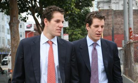 Tyler (R) and Cameron (L) Winklevoss.