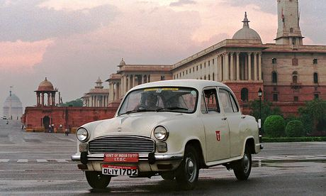 Ambassador car, India