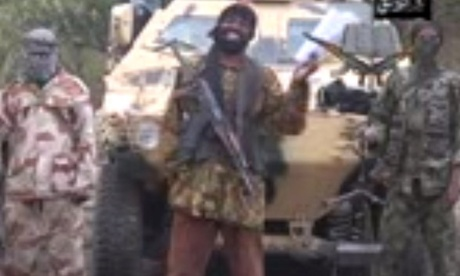 A grab made on May 5, 2014 from a video by Boko Haram leader Abubakar Shekau