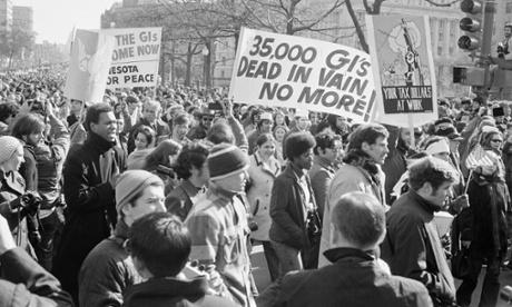 Protestors of the Vietnam War in Washington, DC 1969.