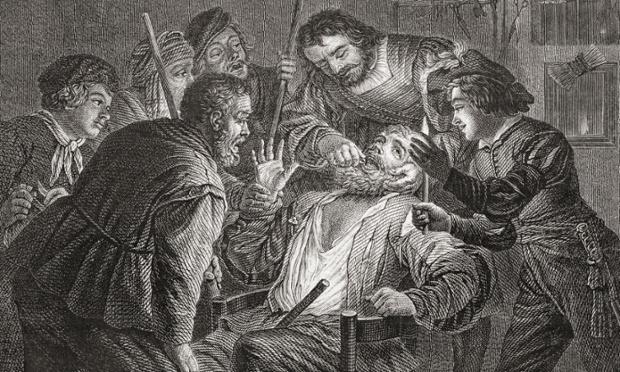 'La Dentiste' by Gerard van Honthorst. Dentistry in the 17th century. From Histoire des Peintres de Toutes les  coles,  cole Hollandaise. Publ. 1863