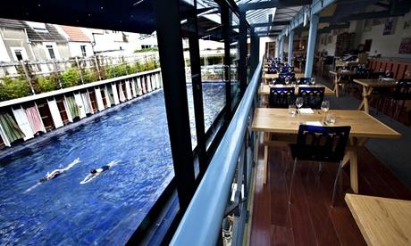 The restaurant and pool at Bristol Lido, Photograph: Antonio Zazueta Olmos