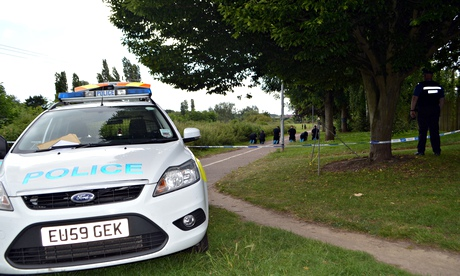 Police search Salary Brook trail in Colchester, Essex, where Nahid Almanea was stabbed to death