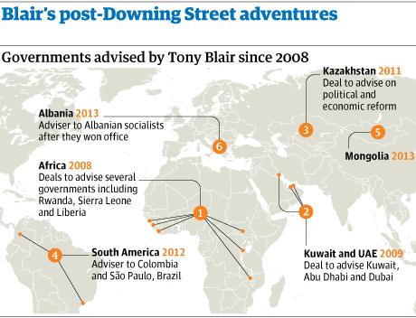 Tony Blair post-Downing Street