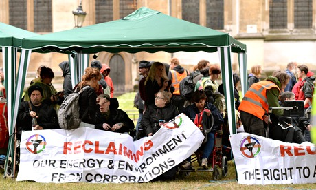 The group has urged the church not to forcibly remove them from its grounds.