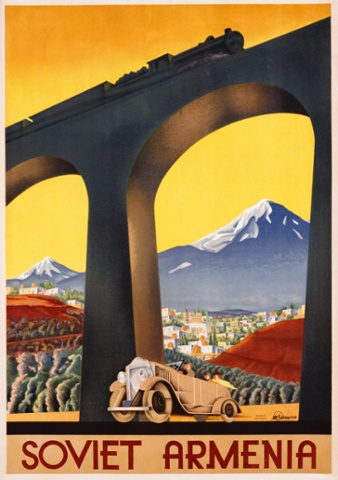 A tourism poster advertising Soviet Armenia, from around 1933. Photograph: Swim Ink 2, LLC/CORBIS