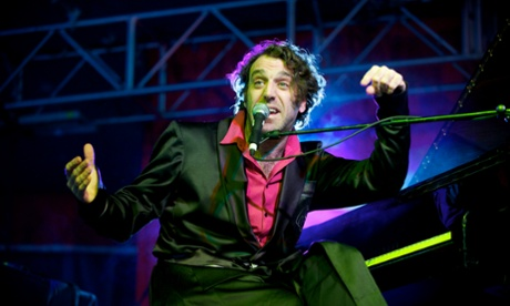 Chilly Gonzales performs on stage