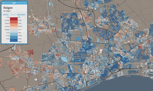 Hull religion map