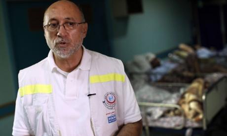 Basman Alashi, director of the al-Wa'afa rehabilitation hospital near Gaza City.