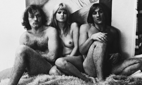 Depardieu with Patrick Dewaere and Miou-Miou in Les Valseuses.