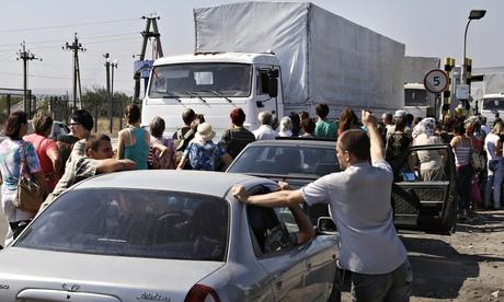 Russian convoy in Ukraine