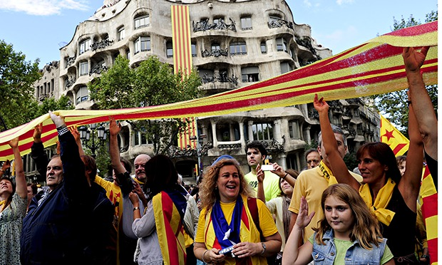 Catalonia National Day in Barcelona