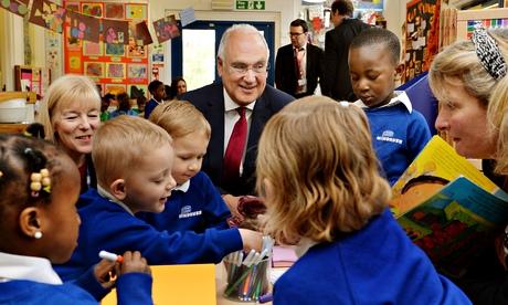 Sir Michael Wilshaw at a nursery school