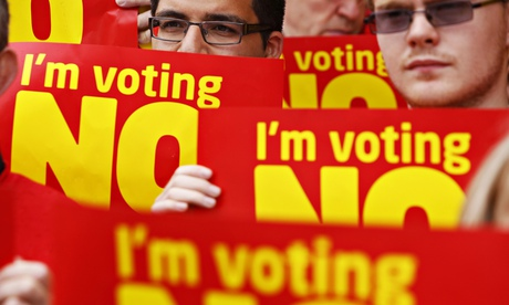 No campaigners, Scottish independence referendum
