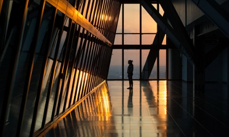 Inside London's 'Cheesegrater' building.