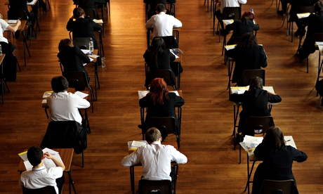 Pupils sitting examinations