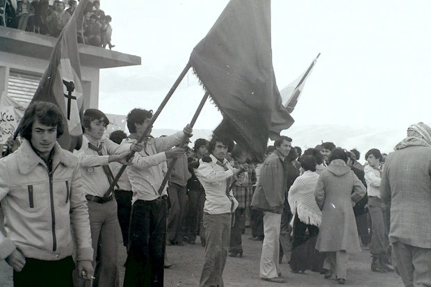 Political martyrs memorial rally, Almarg village, 1977