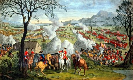 The Battle of Culloden, 1746, the last battle of the  Jacobite rising under Charles Edward Stuart