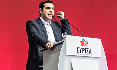 Syriza leader Alexis Tsipras at the party congress in Athens, Greece, 3 January 2015.