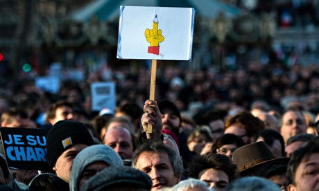 Unity rally in Paris, following the Charlie Hebdo attacks, 11 January 2015