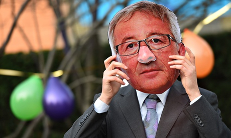 TTIP protest, Juncker
