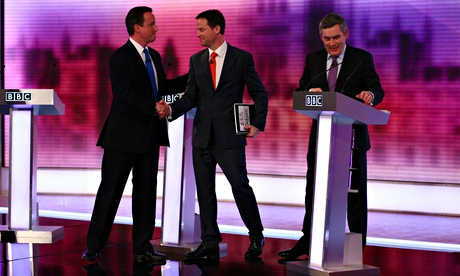 Third and final televised leaders' debate before the 2010 general election