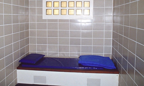 A cell in a police station in London